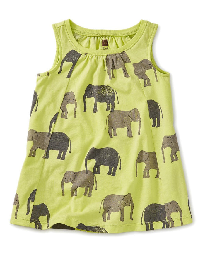 Little tea collection baby girl 12-18 printed trapeze baby dress