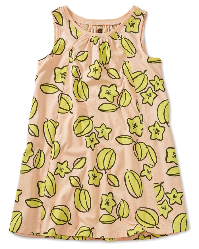 Little tea collection girl 10 printed trapeze dress