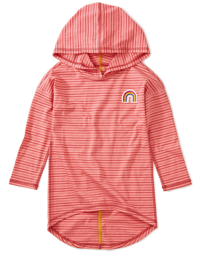 Little tea collection girl rainbow hi-lo pullover hoodie