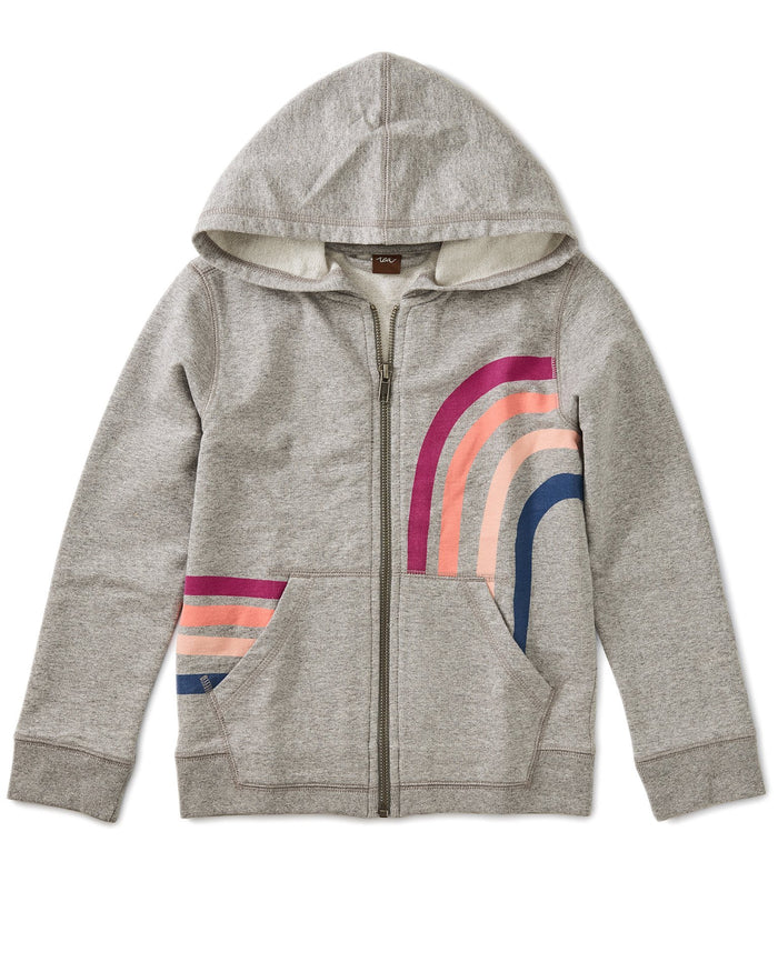 Little tea collection girl rainbow zip hoodie