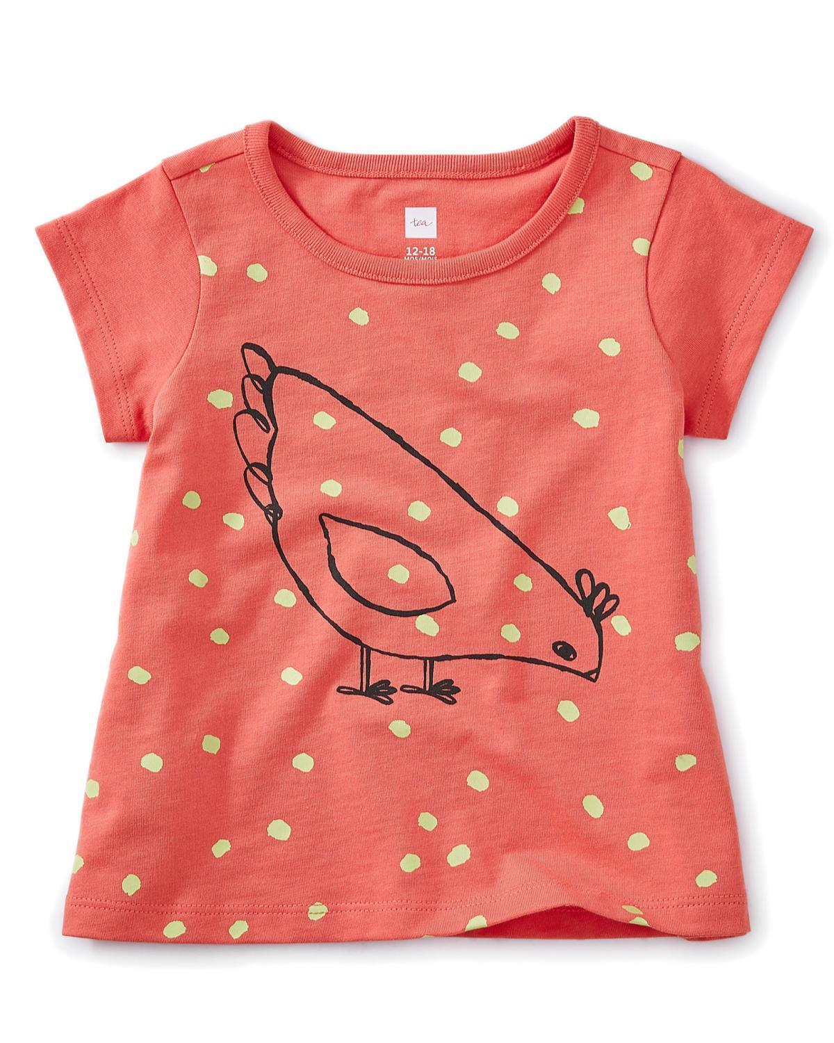 ad3c3338e8c Little tea collection baby girl 12-18 red hen baby graphic tee