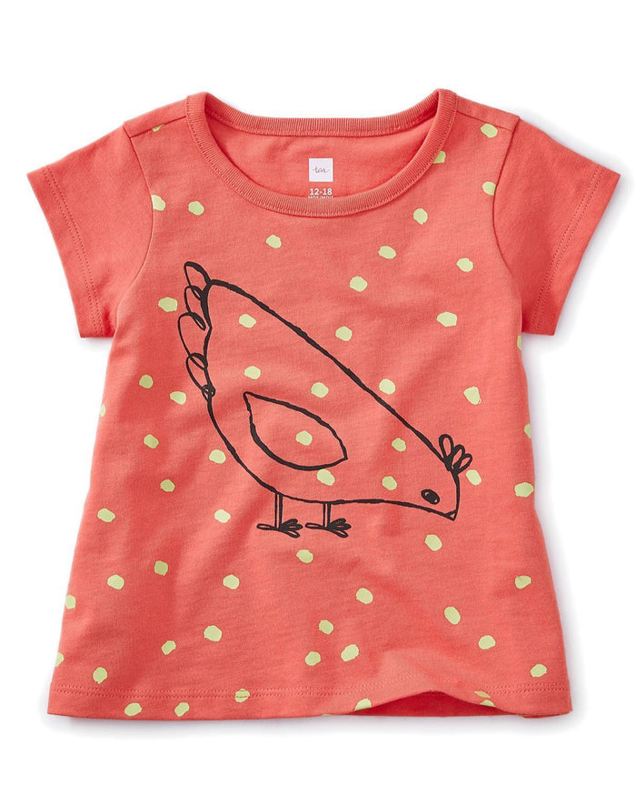Little tea collection baby girl 12-18 red hen baby graphic tee