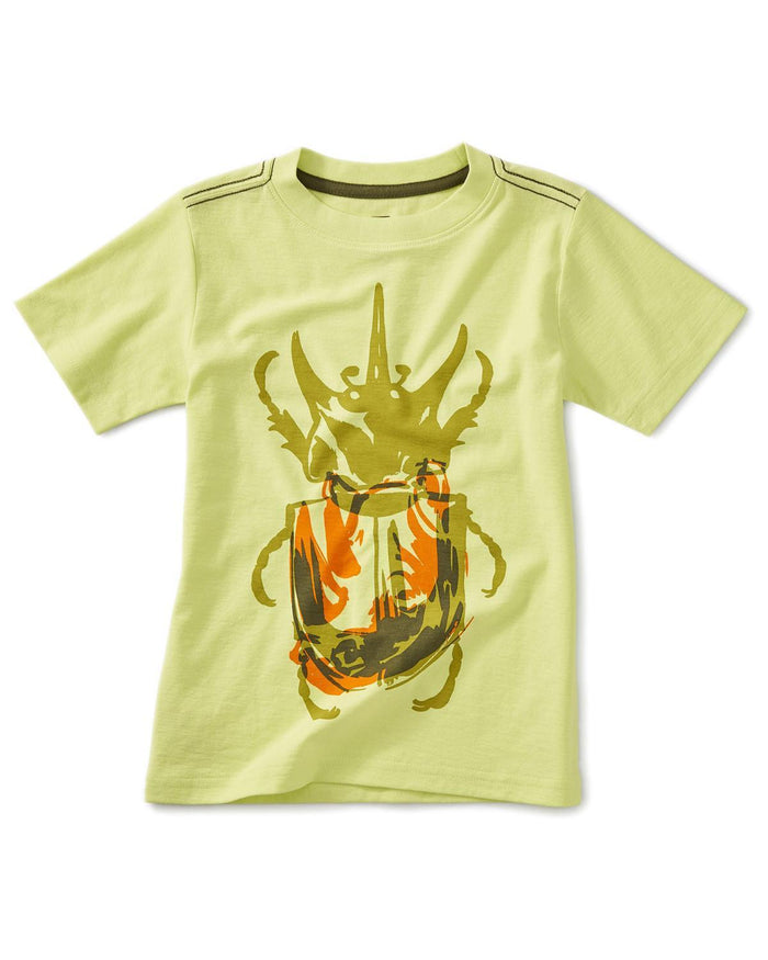 Little tea collection boy 10 rhino beetle graphic tee