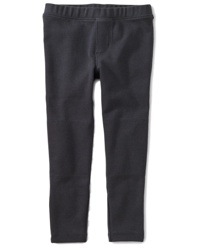 Little tea collection girl ribbed moto pants in indigo