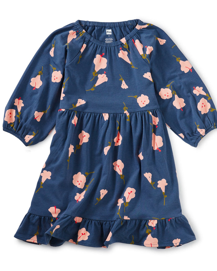 Little tea collection girl ruffle dress in flora de inca