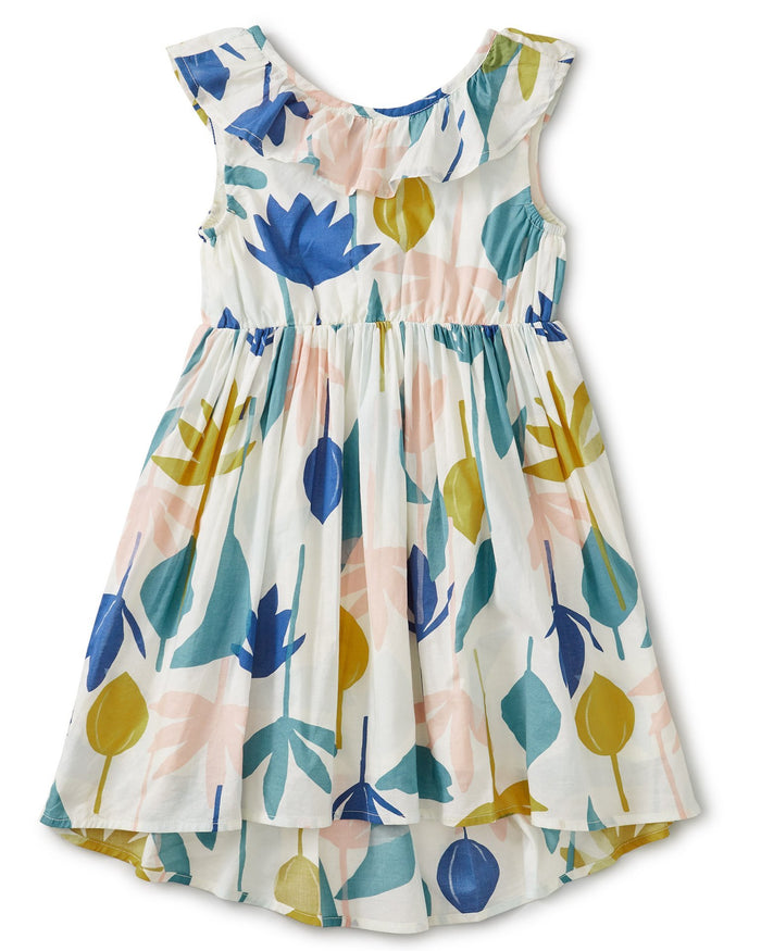Little tea collection girl ruffle hi-lo dress in egyptian floral