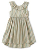 Little tea collection girl ruffle hi-lo dress in marsh
