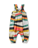 Little tea collection baby ruffle strap romper in rug chevron