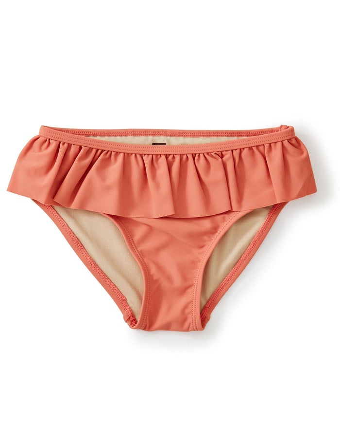 Little tea collection girl ruffled bikini bottom in mauveglow
