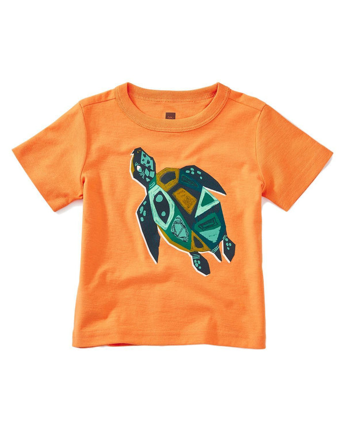 Little tea collection baby boy 12-18 sacred turtle baby graphic tee