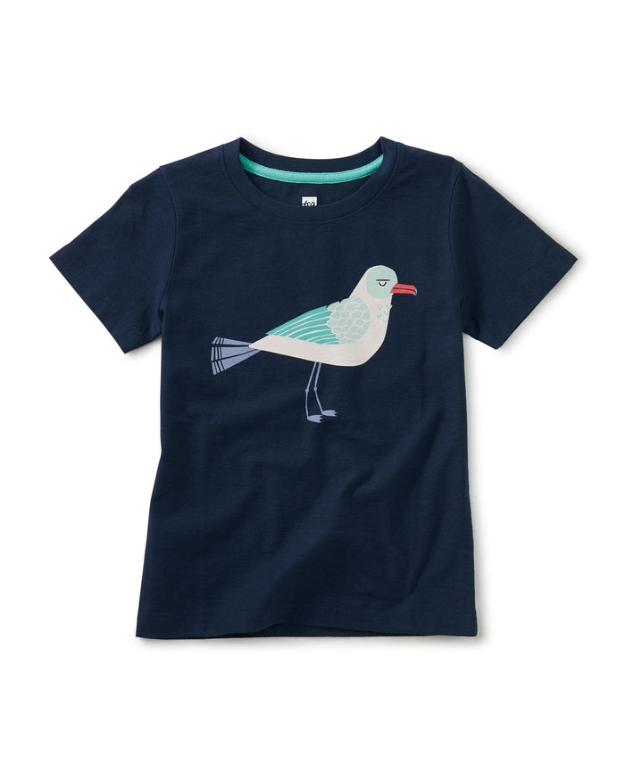 Little tea collection boy salty sea gull graphic tee