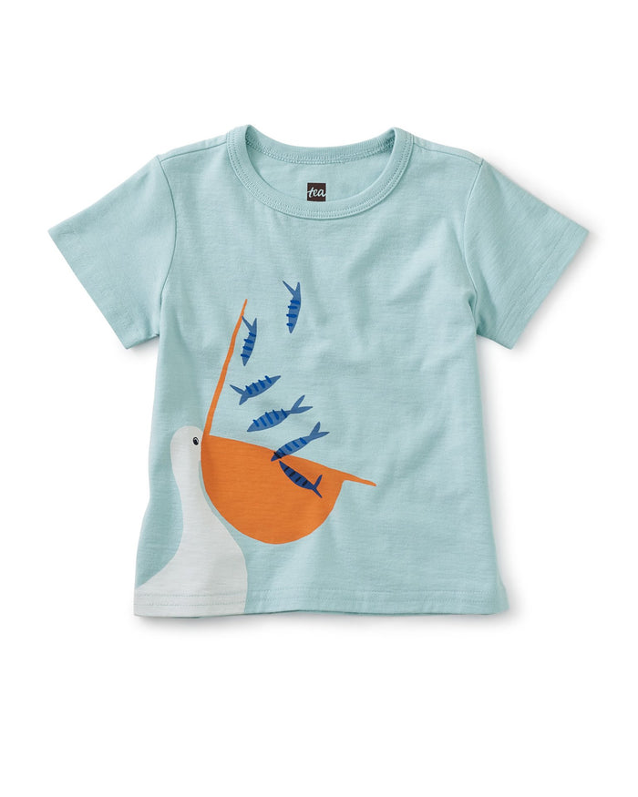 Little tea collection baby boy seaside snack graphic tee