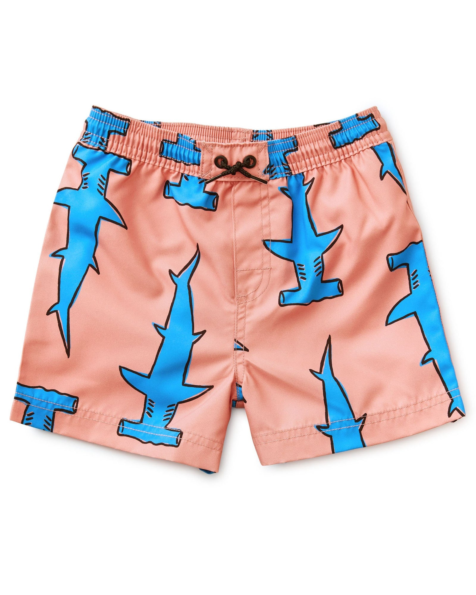 Little tea collection boy shortie swim trunk in hammerheads