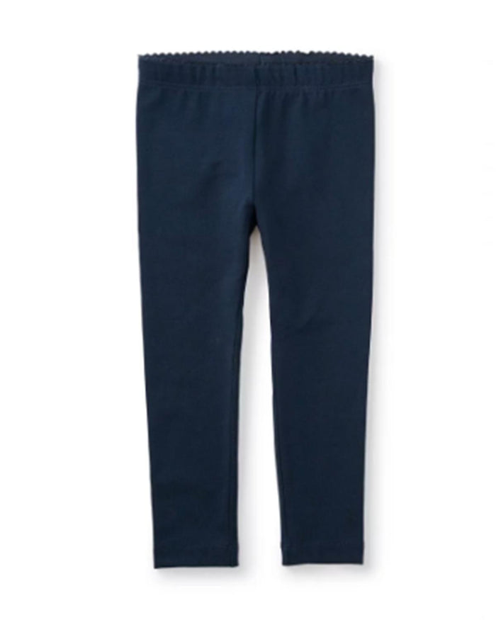 Little tea collection girl 2 Skinny Solid Leggings in Heritage Blue