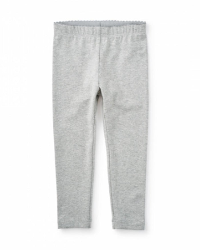 Little tea collection girl 2 Skinny Solid Leggings in Medium Heather Grey