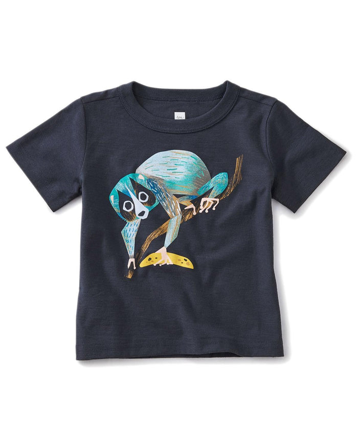Little tea collection baby boy 12-18 slow loris baby graphic tee
