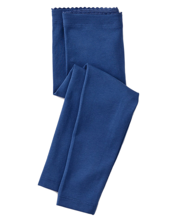 Little tea collection baby girl solid baby leggings in majorelle blue