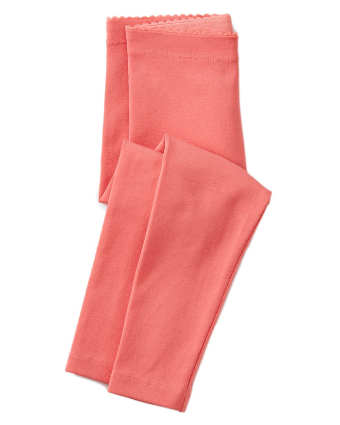 Little tea collection baby girl solid baby leggings in pink tulip