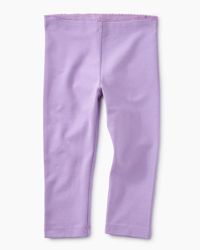 Little tea collection girl 10 solid capri leggings in aster