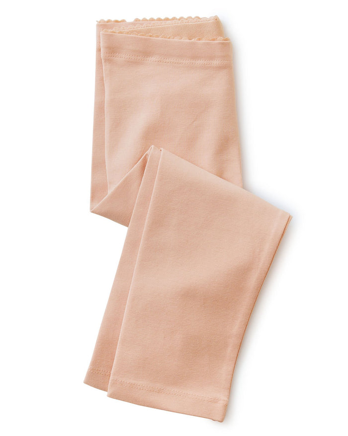 Little tea collection girl solid capri leggings in dusty coral