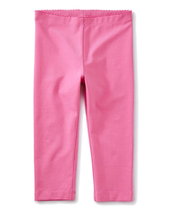 Little tea collection girl 10 solid capri leggings in sweet pea