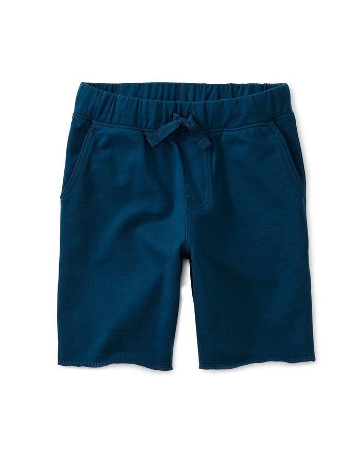 Little tea collection boy solid cruiser shorts in ascot blue