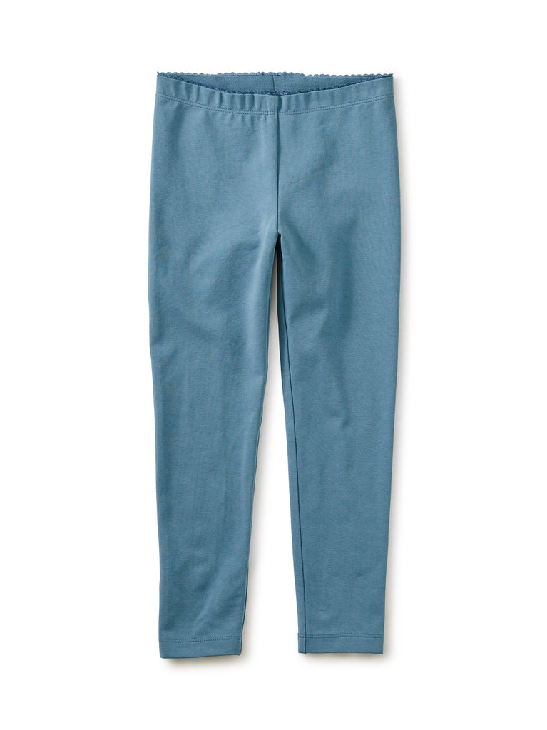 Little tea collection solid leggings in aegean blue