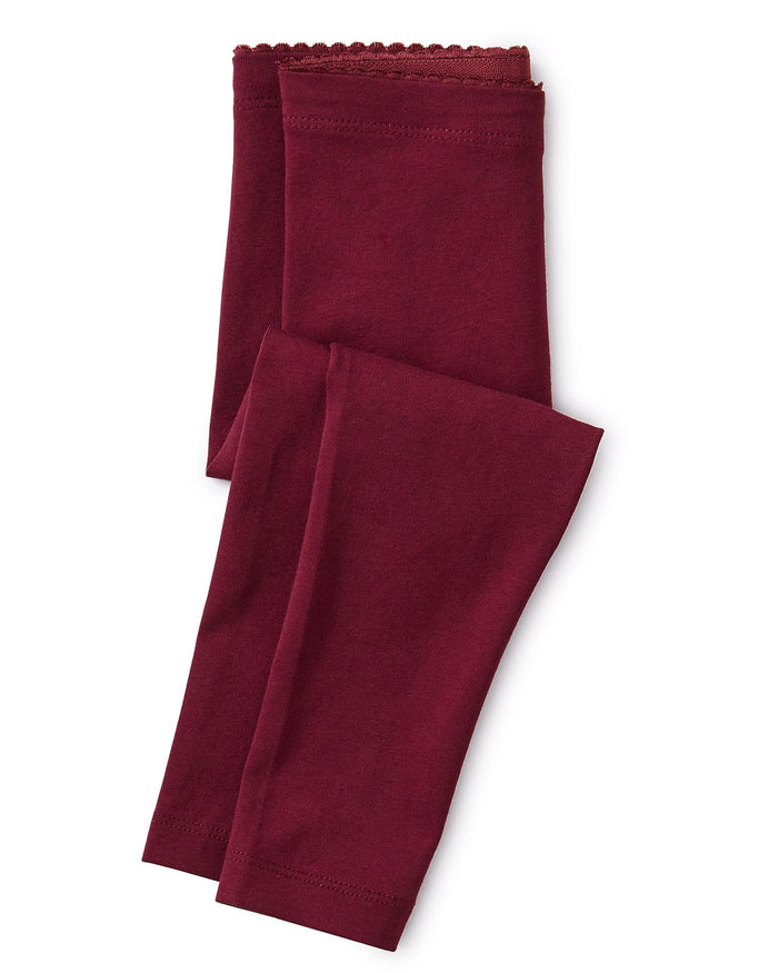 Little tea collection girl solid leggings in boysenberry
