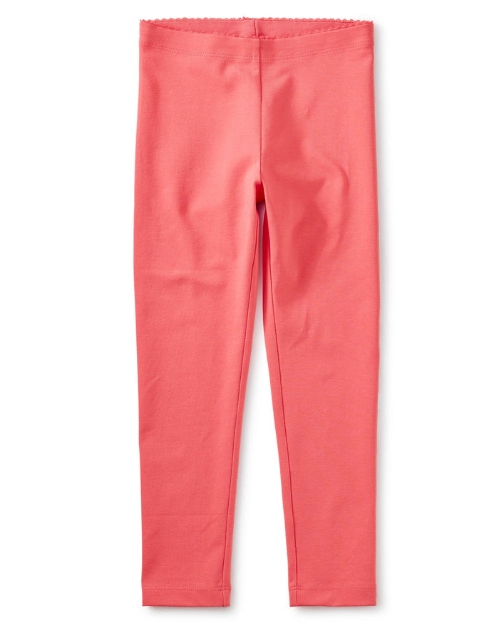 Little tea collection girl solid leggings in flat neon rosa