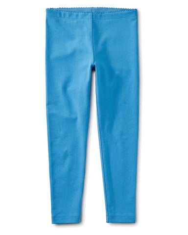 Little tea collection girl 2 solid leggings in lagoon