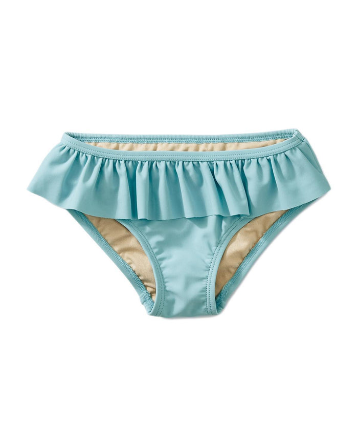Little tea collection girl 10 solid ruffled bikini bottom