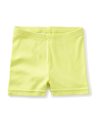 Little tea collection girl 5 solid somersault shorts in kiwi