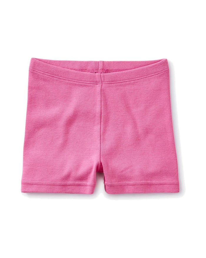 Little tea collection girl 4 solid somersault shorts in sweet pea