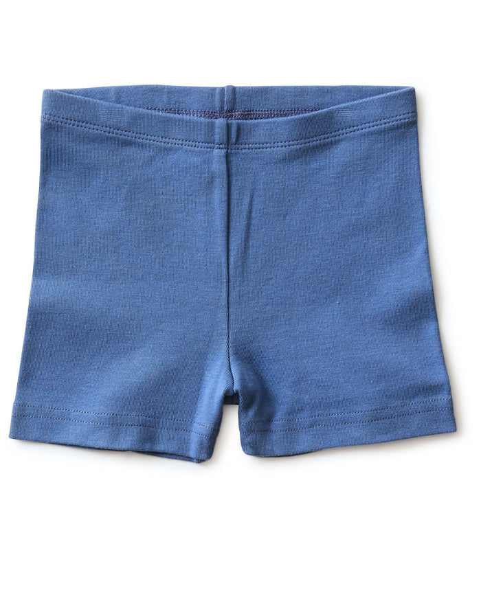 Little tea collection girl somersault shorts in batik blue