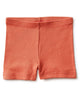 Little tea collection girl somersault shorts in faded rose