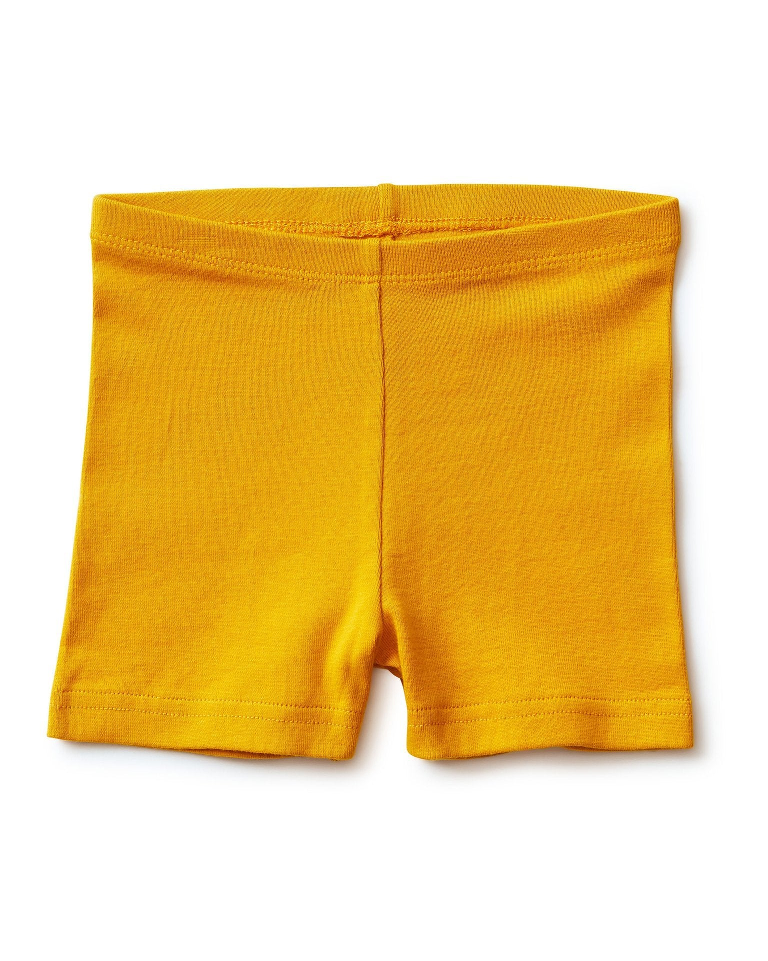 Little tea collection girl somersault shorts in golden yellow