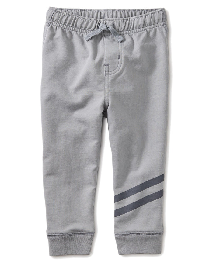 Little tea collection baby boy speedy striped baby joggers in stratus