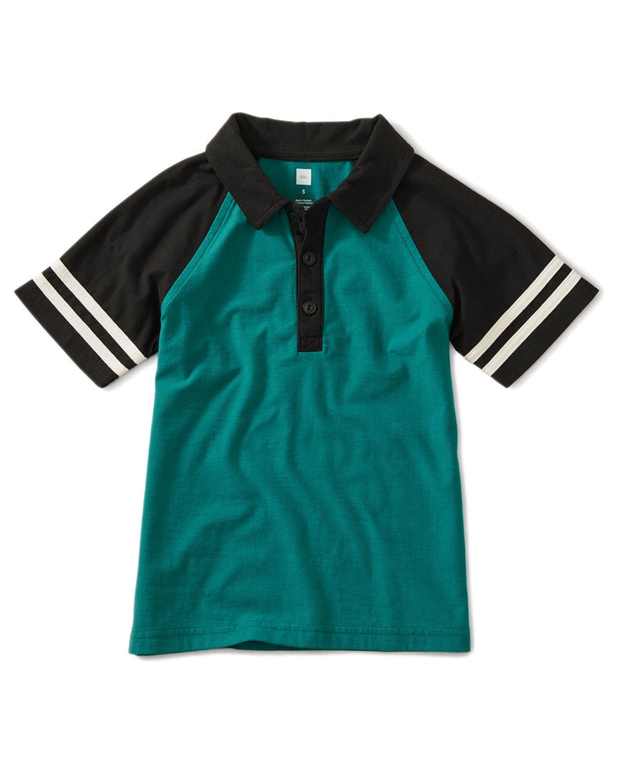 Little tea collection boy speedy striped polo