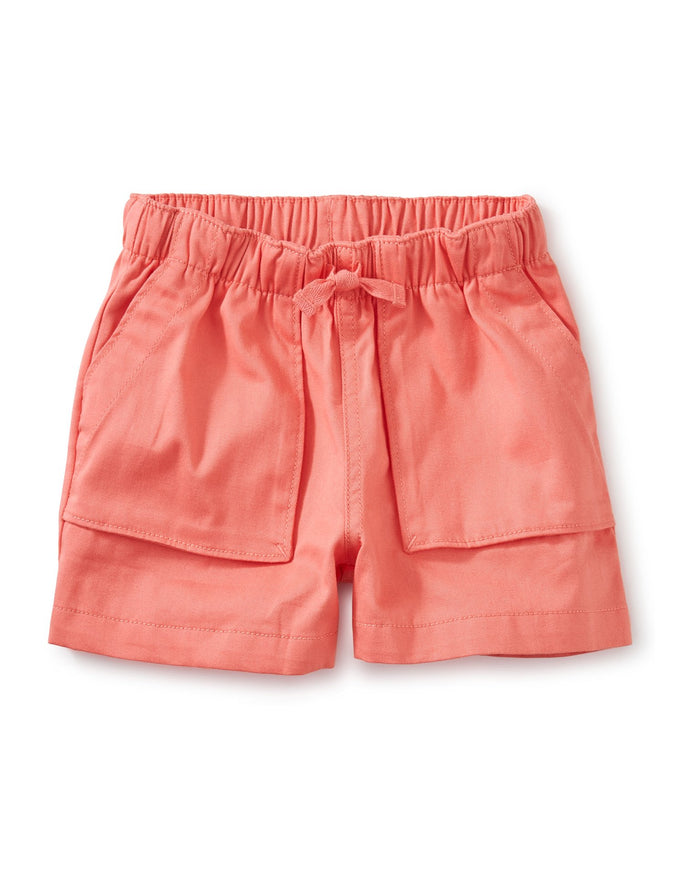Little tea collection girl sporty camp shorts in sunset pink