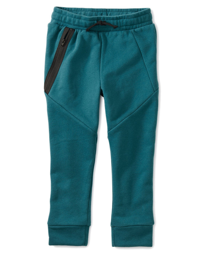 Little tea collection boy sporty zip jogger