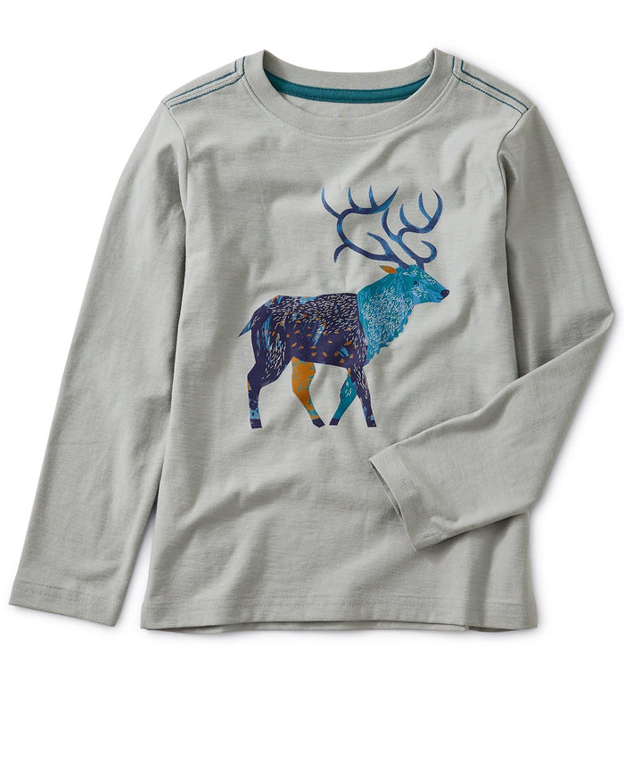 Little tea collection boy stag graphic tee