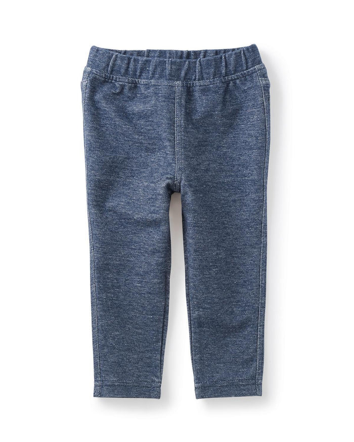 Little tea collection baby girl 3-6 Stretch Denim-Like Baby Pants