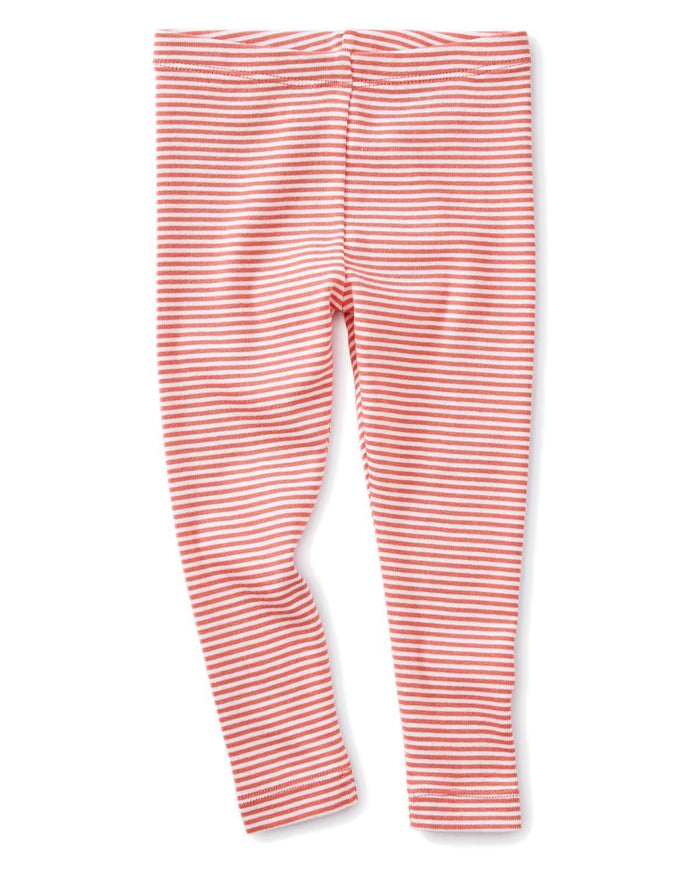Little tea collection baby girl 12-18 striped baby leggings