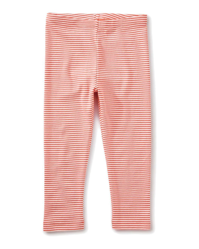 Little tea collection girl 10 striped capri leggings