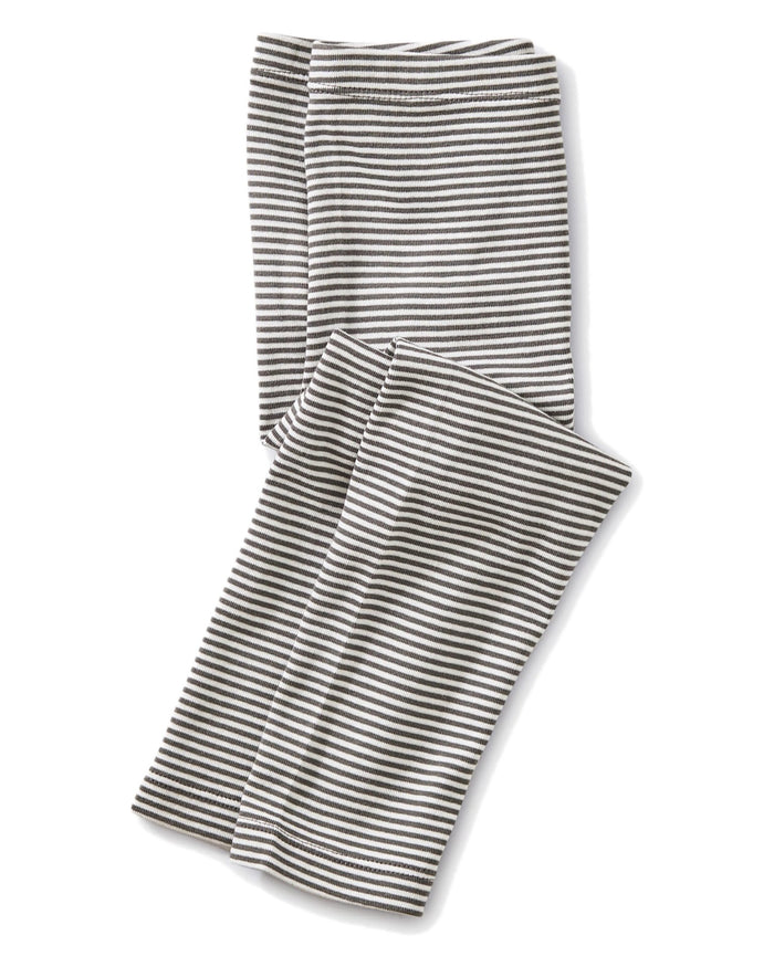 Little tea collection girl striped capri leggings in thunder