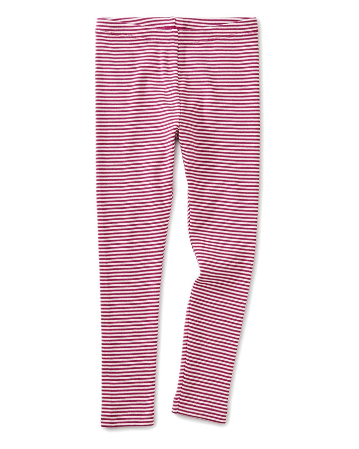 Little tea collection girl striped leggings in bouquet