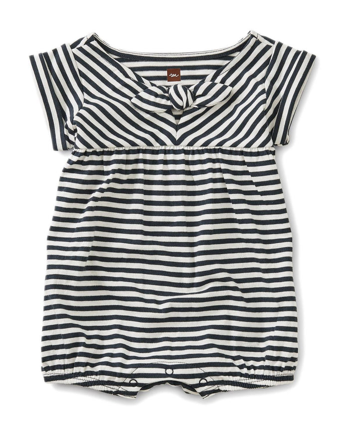 Little tea collection little girl 0-3 striped tie romper