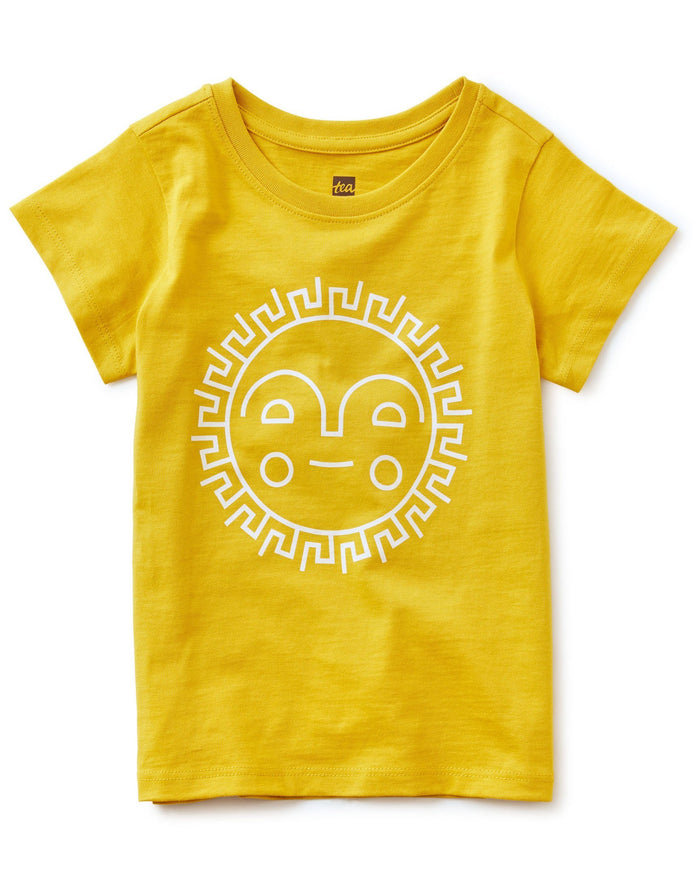 Little tea collection girl sunshine ahead tee in acaia