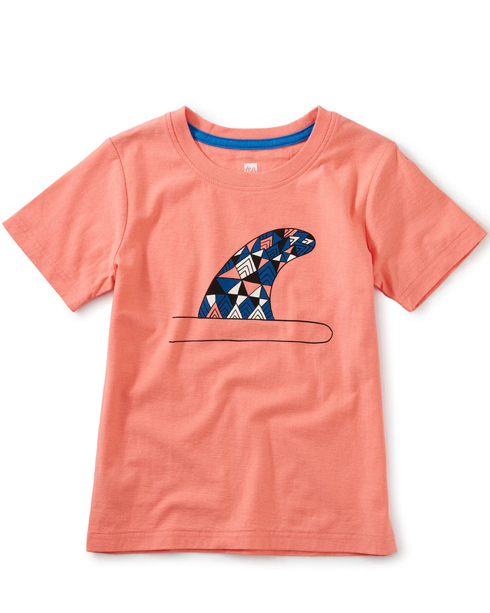 Little tea collection boy surf fin graphic tee