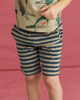 Little tea collection boy terry striped vacation shorts in indian teal
